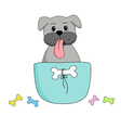 lovely dog in a coffee cup vector image