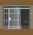 scene with prison room flat vector image
