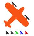 screw aeroplane flat icon vector image