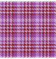 Seamless purple Gingham comprised by threads vector image