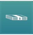 Bundle of Dollars icon vector image