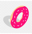 donut isometric icon vector image