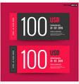 100 usd gift card template vector image