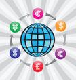 Currency exchange vector image vector image