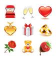 set romantic vector image