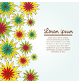 colorful flower pattern on white background vector image