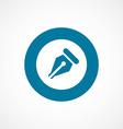 pen bold blue border circle icon vector image