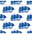 Seamless pattern of a fully rigged sailing ship vector image vector image