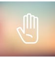 Hand thin line icon vector image