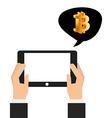 bit coin vector image