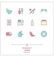 Pharmacy Line Icons Set vector image