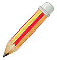 Pencil with sharp lead vector image vector image