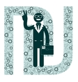 Businessman and sign shekel vector image