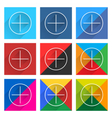 Flat popular social network web square icon vector image