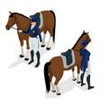jockey on the horse champion horse racing vector image