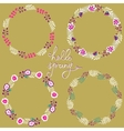 Set of floral frame Beautiful collection of vector image