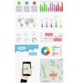 Ui elements of infographics and user interface vector image