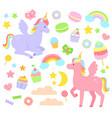 unicorn set vector image
