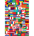 world flags backround vector image vector image