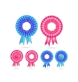 Blank Rosette Seal Set vector image