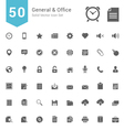 General and Office Solid Icon Set vector image