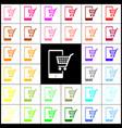 shopping on smart phone sign  felt-pen 33 vector image