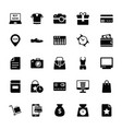 shopping and commerce glyph icons 1 vector image