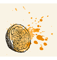 Artistic orange sketch vector image