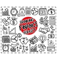 Doodle Finance icons vector image