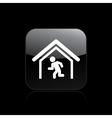 escape icon vector image vector image