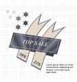 Top Sale paper banner Sale background Big sale vector image vector image