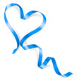 Heart made of blue ribbon vector image