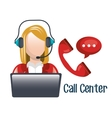 call center design vector image