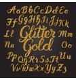Glitter Gold Handwritten alphabet vector image