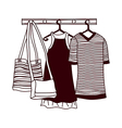 A view of clothes hanger vector image