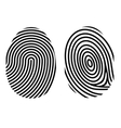 fingerprint on white vector image