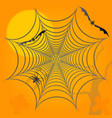halloween background spider bats and graves vector image