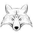 Hand drawn fox headInk sketch Fox vector image
