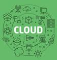 linear cloud vector image