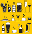 Pub icons vector image