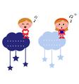 singing christmas kids vector image