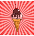 Strawberry Ice cream with topping vector image