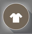 t-shirt sign white icon on vector image