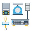 weight measurement instrumentation tool vector image