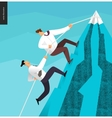 Climbing up business concept vector image vector image