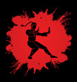 kung fu fighting action graphic vector image