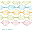 Colorful ogee horizontal striped seamless pattern vector image