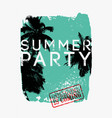 summer tropical party typographic vintage poster vector image