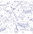 Science sketch seamless pattern vector image
