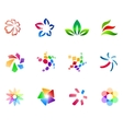 12 colorful symbols set 3 vector image vector image
